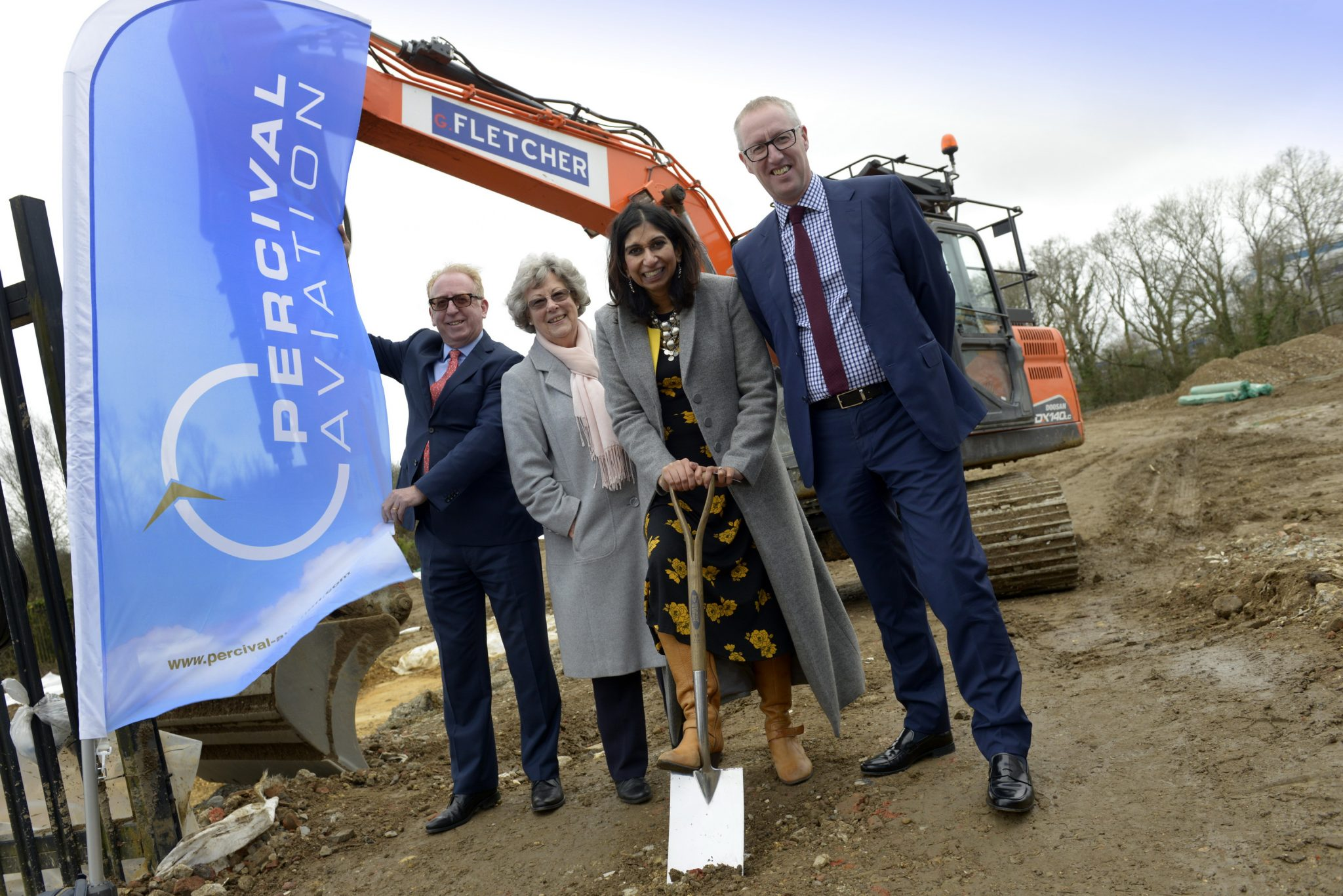 MP hails success of UK aviation industry as work begins on multi-million-pound new premises for Percival Aviation