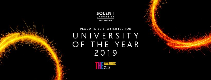 Solent University has been shortlisted for University of the Year in the Times Higher Education Awards