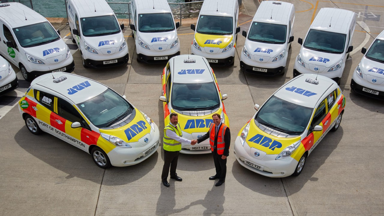 Electric vehicles now make up majority of ABP's fleet at Southampton