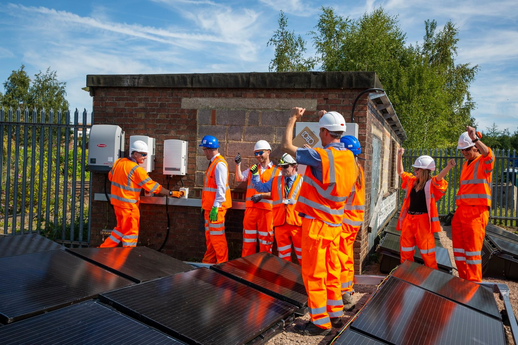 Basingstoke companies in world first as solar power is connected to railway lines