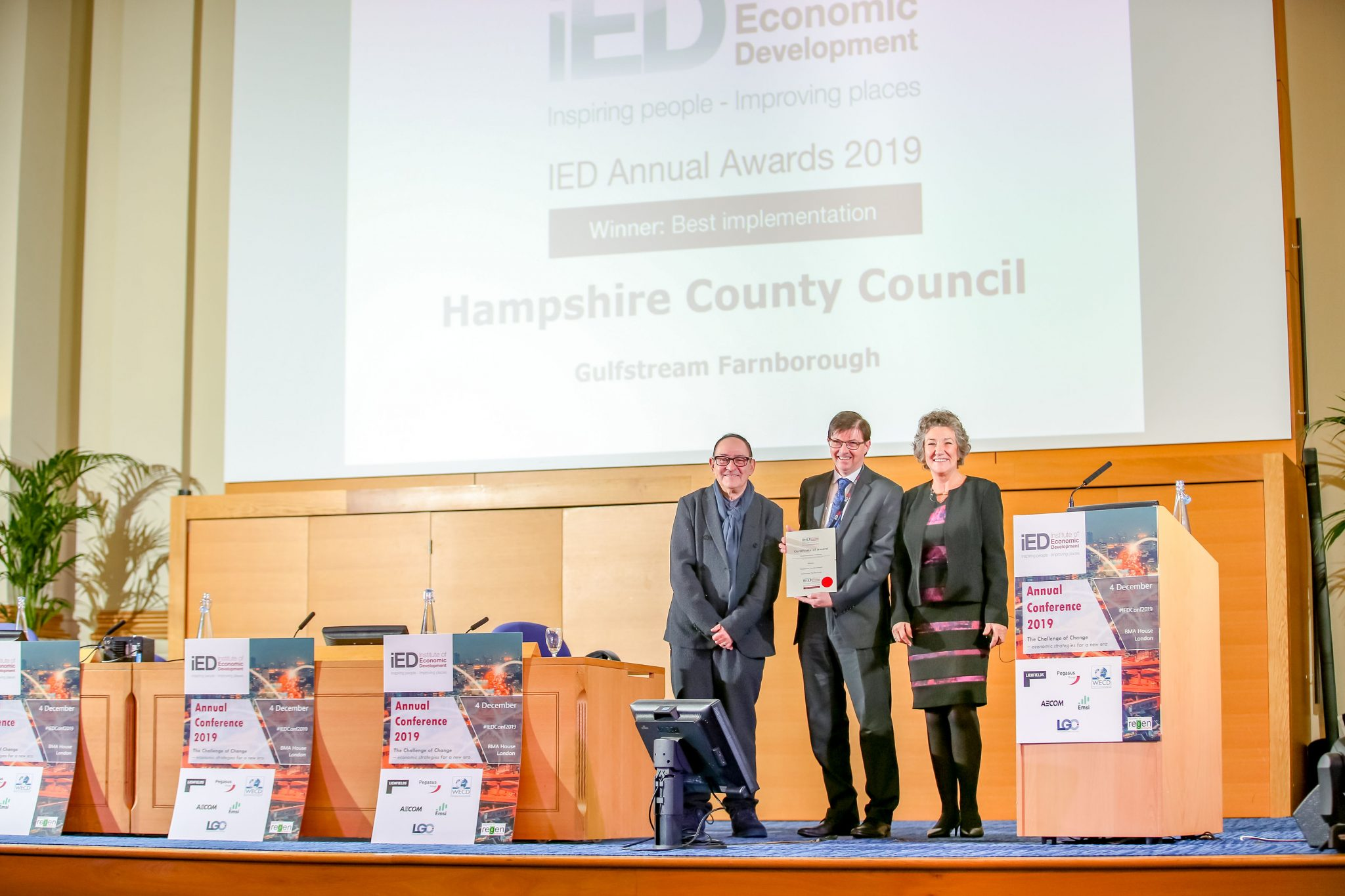 IED Annual Awards 2019: Hampshire County Council wins Best Implementation award